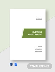 Advertising Agency Analysis Template