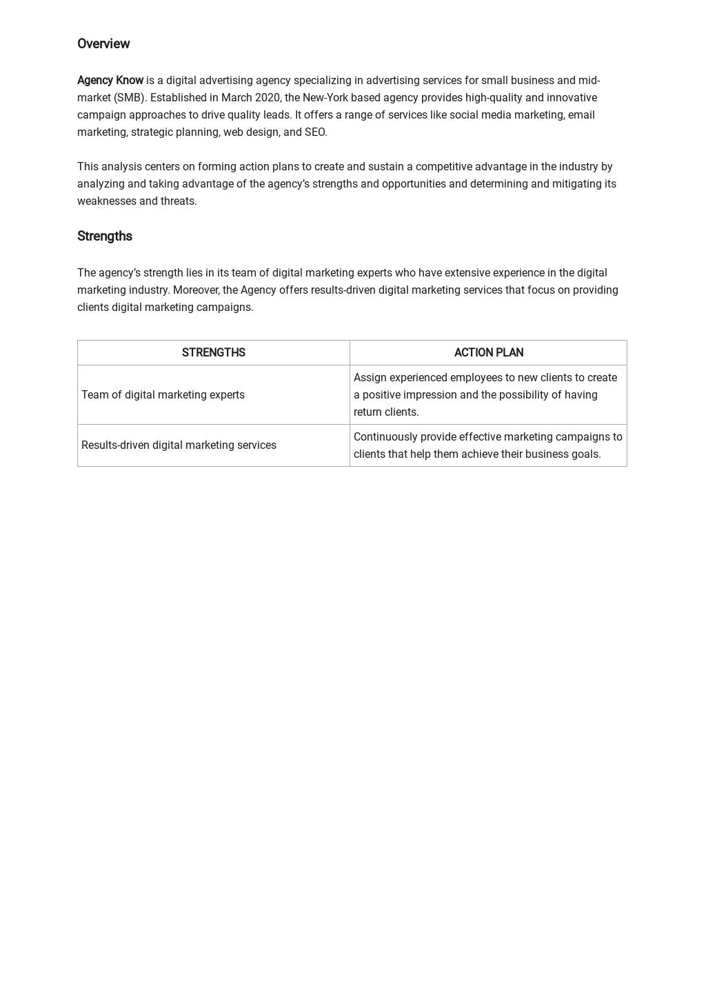 Advertising Agency SWOT Analysis Template 1.jpe
