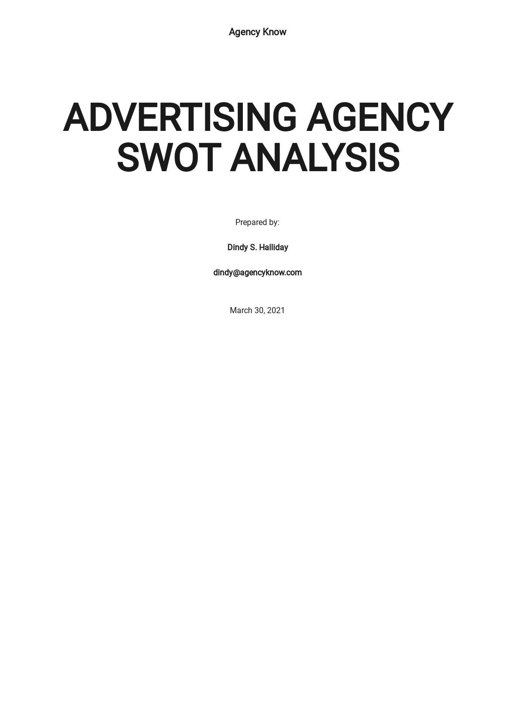 Advertising Agency SWOT Analysis Template.jpe
