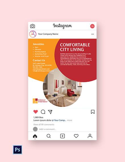 Free Apartment Rental Instagram Post Template