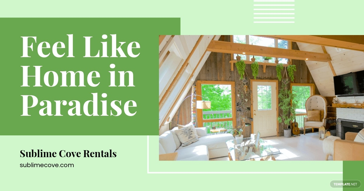 Vacation Rental Facebook Post Template