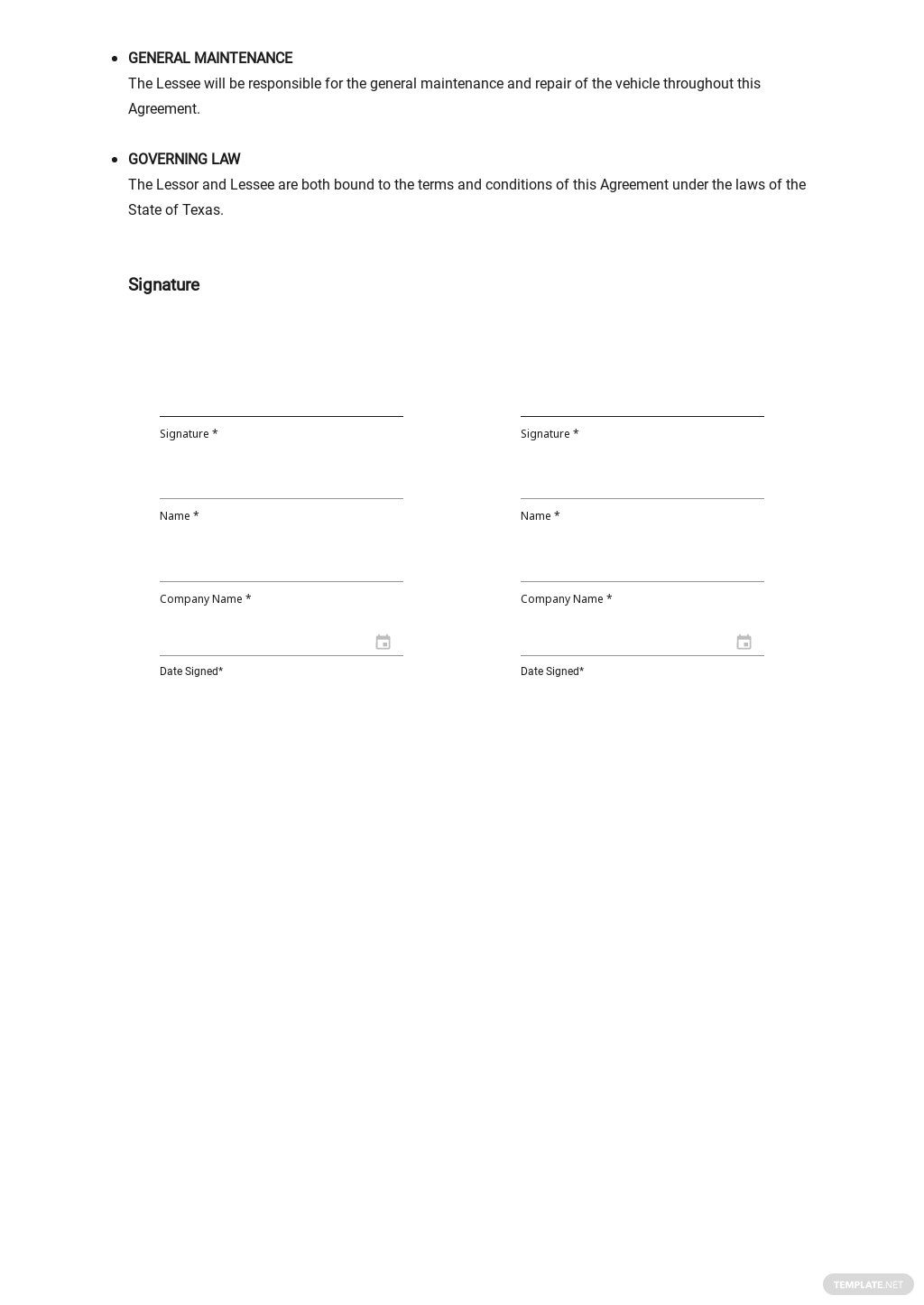 Free Car Lease Agreement Template 2.jpe