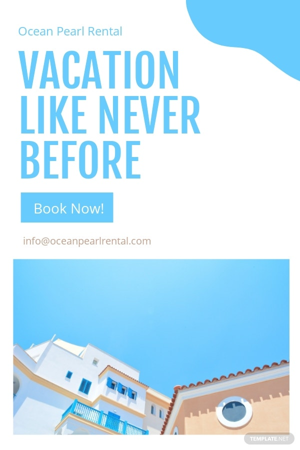 Free Vacation Rental Pinterest Pin Template