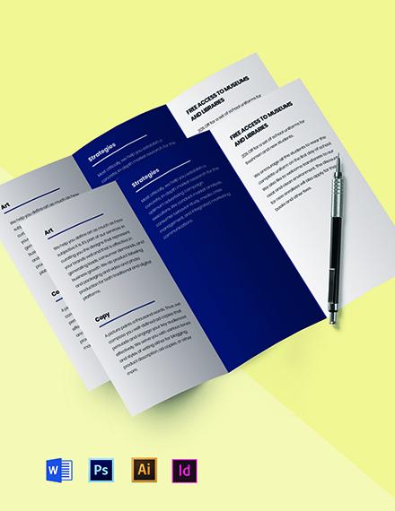 Tri-fold simple advertising agency brochure Template