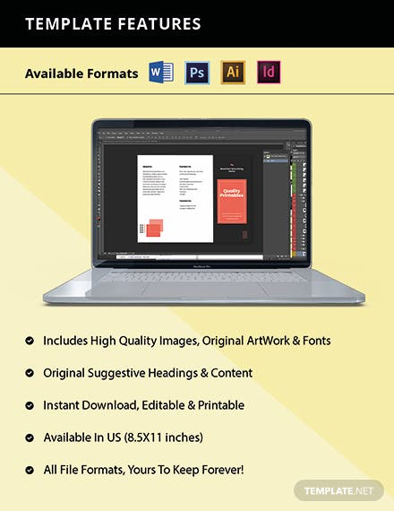 Trifold Creative Advertising Agency Brochure Template Format