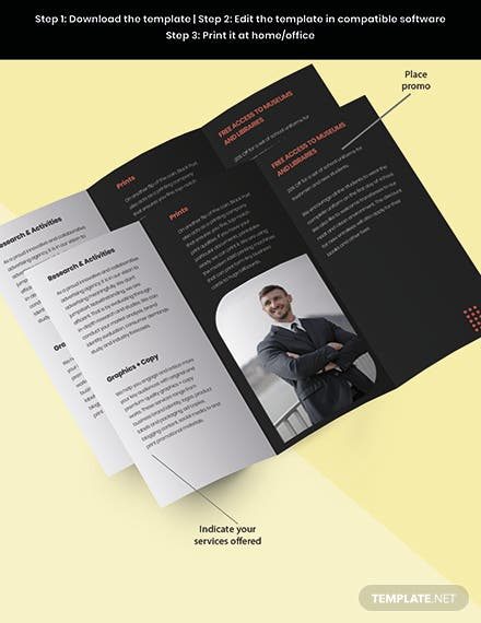 Trifold Creative Advertising Agency Brochure Template Snippet