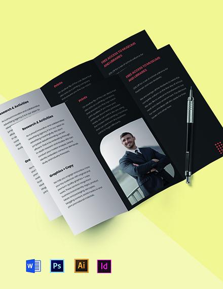 Tri-fold creative advertising agency brochure