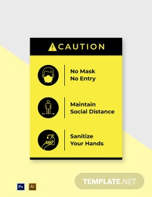 No Mask No Entry Sign Template