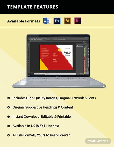 Trifold Advertising Graphic Design Brochure Template Format
