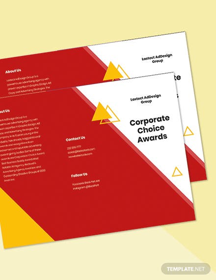 Trifold Advertising Graphic Design Brochure Template Printable