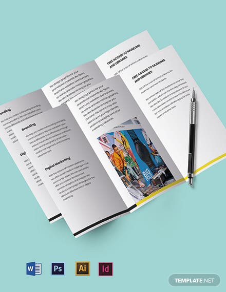 Tri-fold Advertising company brochure