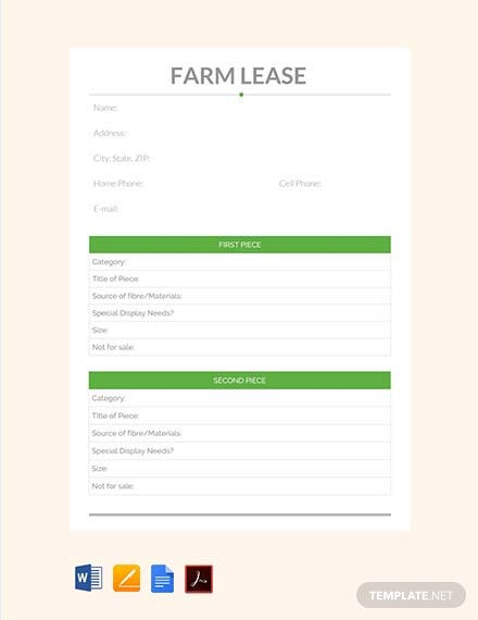 Free Farm Lease Template