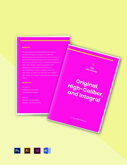 Bifold sample advertising agency brochure Template