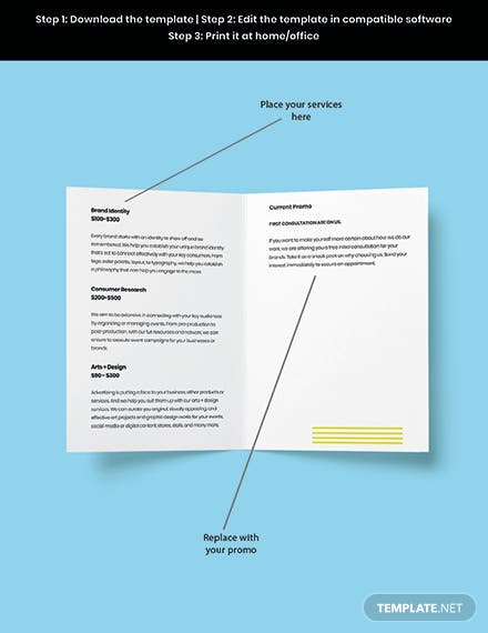 Bifold Free Basic Advertising Agency Brochure Template Download