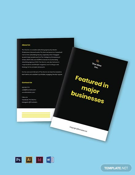 Bifold Free basic advertising agency brochure