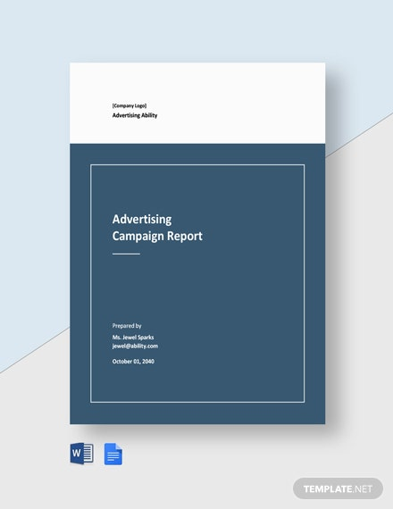 Advertising Campaign Report Template