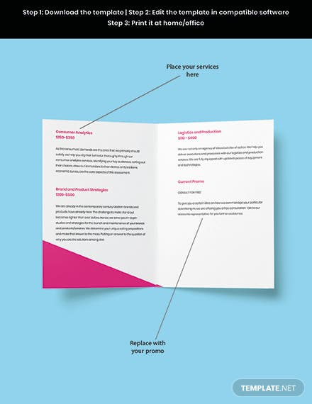 Bifold Creative Advertising Agency Brochure Template Snippet