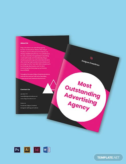Bifold creative advertising agency brochure