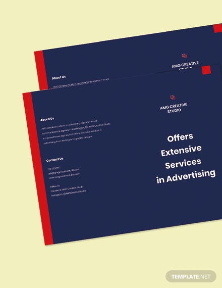 Bifold Advertising Graphic Design Brochure Template Printable