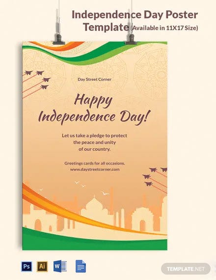 Free Independence Day Poster Template