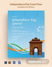 Free Independence Day Event Flyer