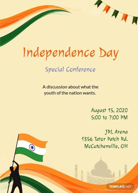 Independence Day Invitation Template