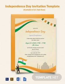 Free Independence Day Invitation Template