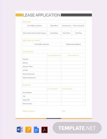 Free Lease Application Template