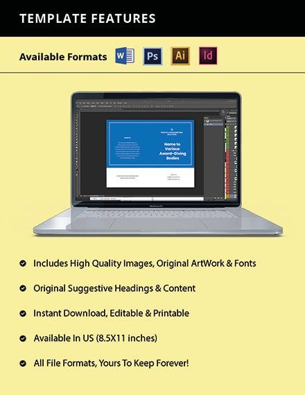 Bifold Marketing Agency Brochure Template Format