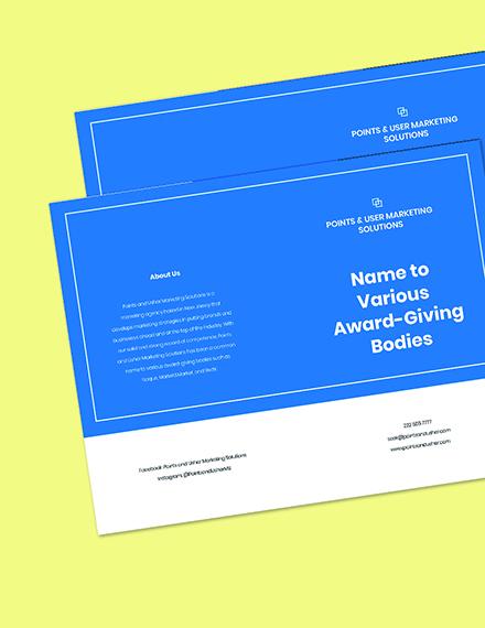 Bifold Marketing Agency Brochure Template Printable