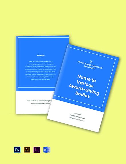 Bifold Marketing Agency Brochure