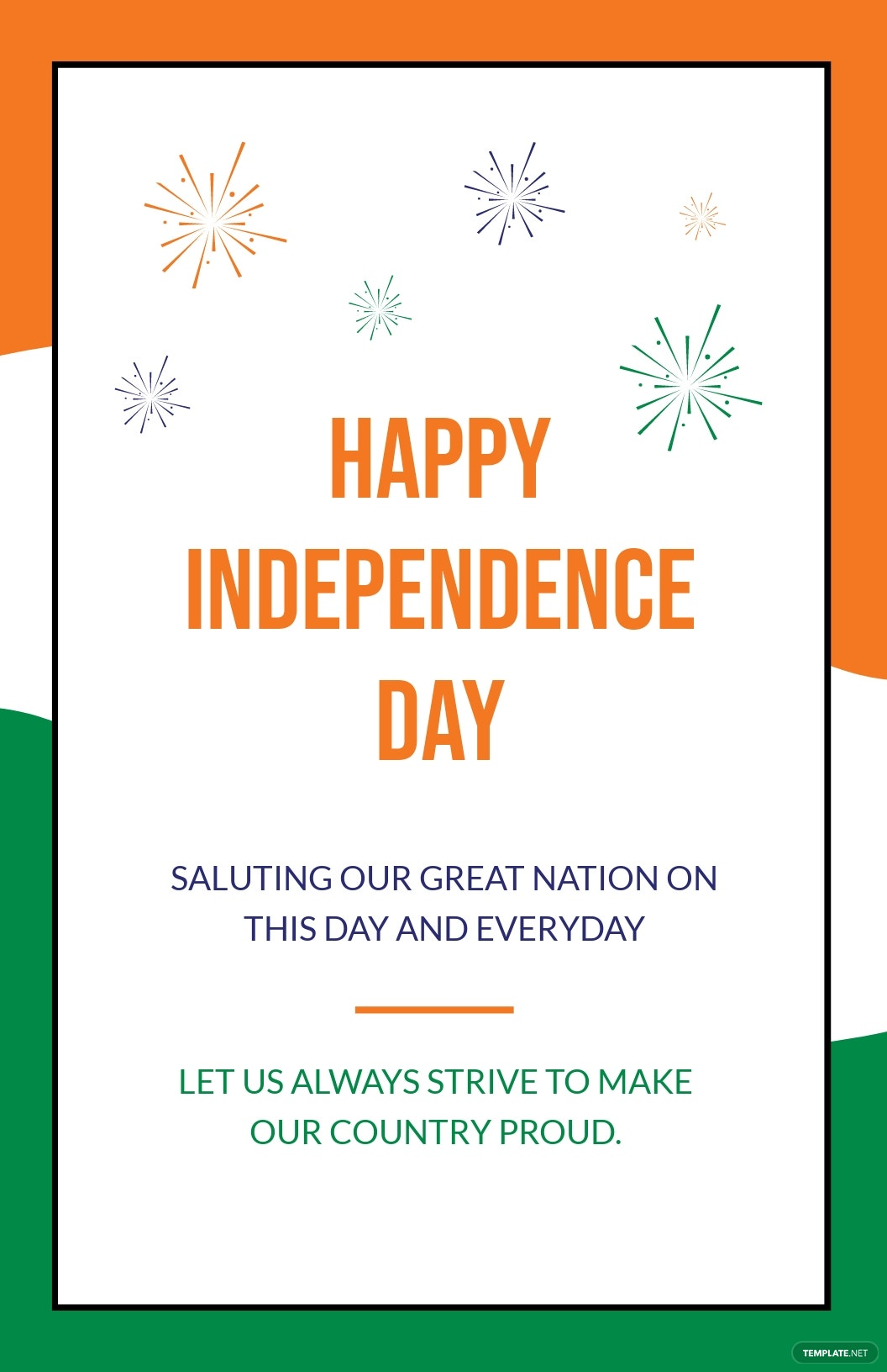 India Independence Day Greeting Card Template.jpe