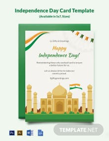 Free Independence Day Card Template