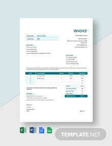 Agency Invoice Template