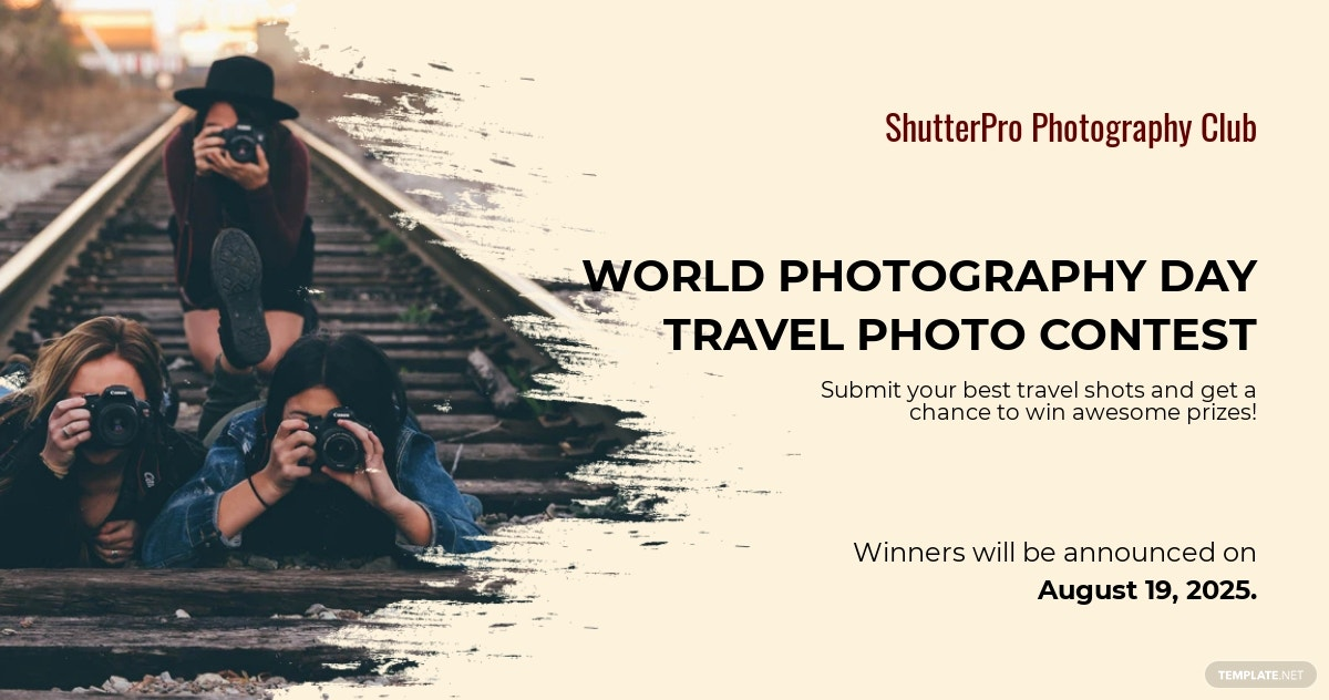Free World Photography Day Facebook Post Template.jpe