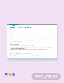 Free Month to Month Lease Template