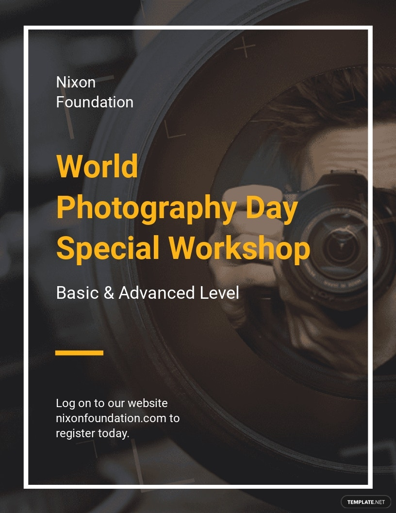 World Photography Day Flyer Design Template.jpe