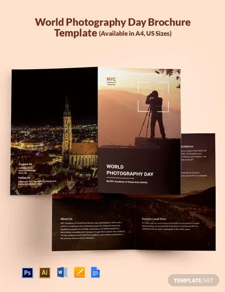 Free World Photography Day Brochure Template