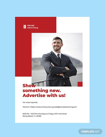 Advertising Agency Services Poster Printable