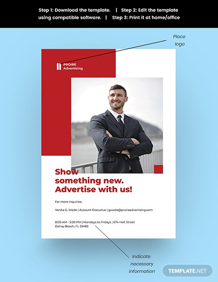 Advertising Agency Services Poster Snippet