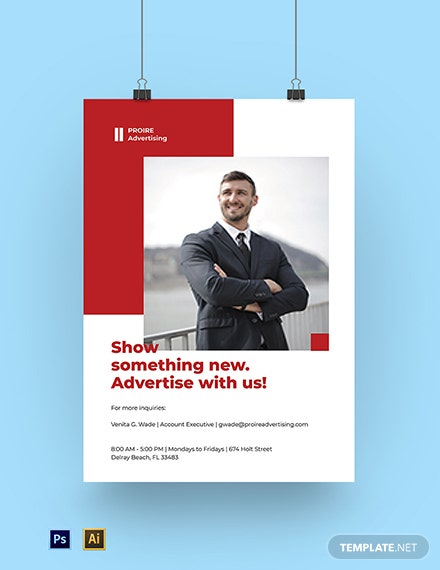 Advertising Agency Services Poster