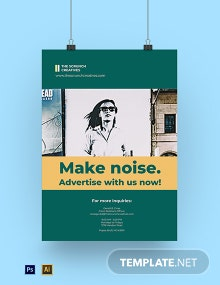 Advertising Agency Marketing Poster Template