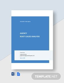 Agency Root Cause Analysis Template