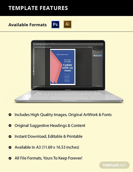Design Ad Agency Poster Template Format