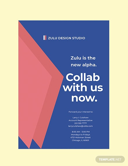 Design Ad Agency Poster Template Printable
