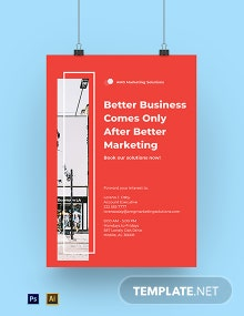 Marketing Solutions Agency Poster Template