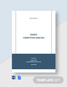 Agency Competitive Analysis Template