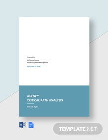 Agency Critical Path Analysis Template