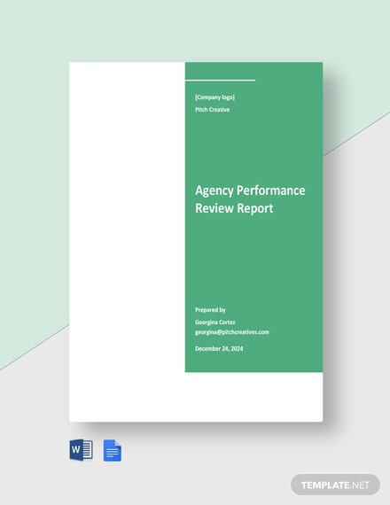 Agency Performance Review Report Template