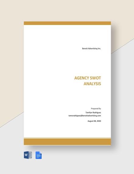 Agency Swot Analysis